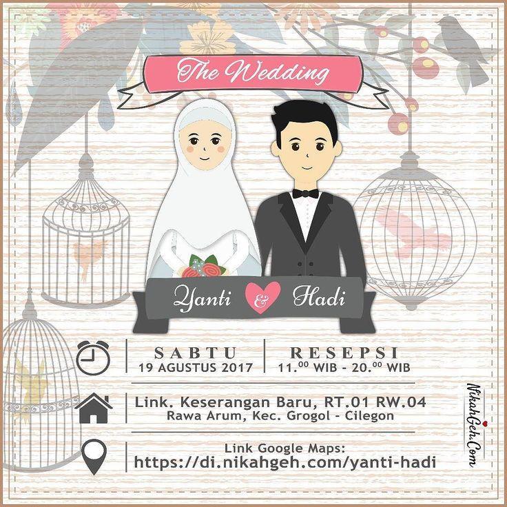 https://nikahgeh.com - E-invitation Yanti & Hadi  Tanya-tanya atau info lebih lanjut hubungi :  WA : 08561410064 Line : nikahgeh Desain bisa cek di  http://nikahgeh.com  #weddingserang#undanganserang #infoserang #undanganminimalis #simpleinvitation  #undanganpernikahanmurah #undangancantik #pesanundangan #invitationserang#kotaserang#undangancilegon #undanganpandeglang#undanganmurah #undanganpernikahan#undanganonline #undangankreatif#undanganunik#nikah  #nikahgeh#desainundangan#undanganlucu…