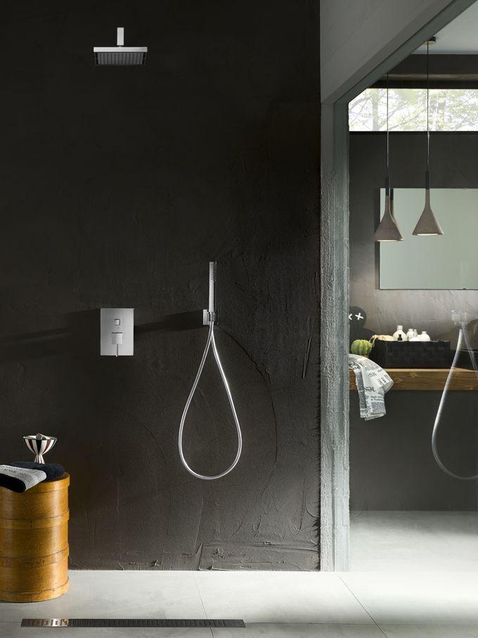 ©varianti per Nobili Rubinetterie serie Cube. #setdesign #setbuild #studiolife #stilllifephotography #productphotography #commercialphotography #advertising #interior #setdesign #sinar #setstyling #homedecoration #bathroom #shower #modern #grey #cement