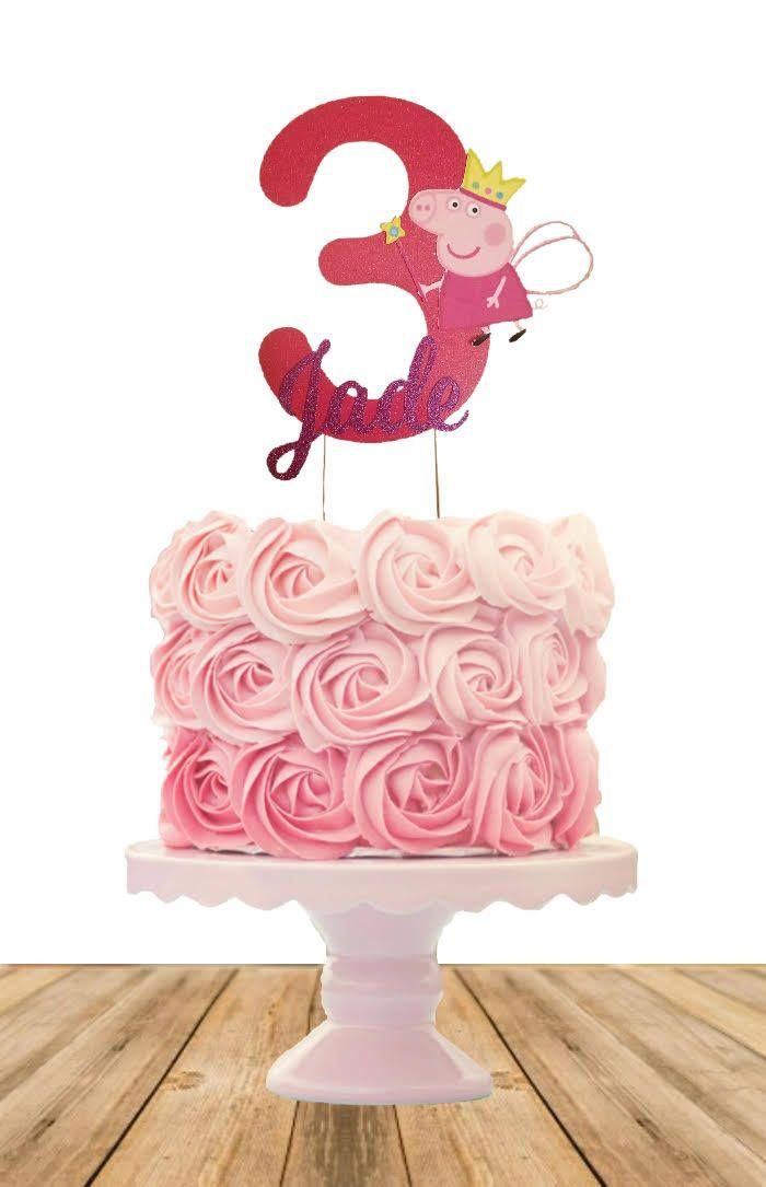 Peppa Pig Birthday Cake Topper Peppa Pig Centerpiece Cake Topper