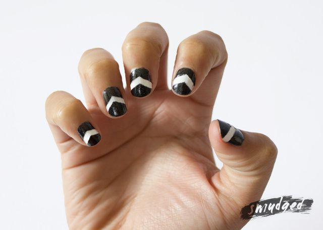 Aztec nails http://smudgedbeauty.co.za/2013/09/17/get-yo-nails-did-aztec-inspired/