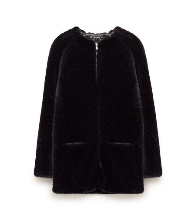 Zara Black Furry Coat