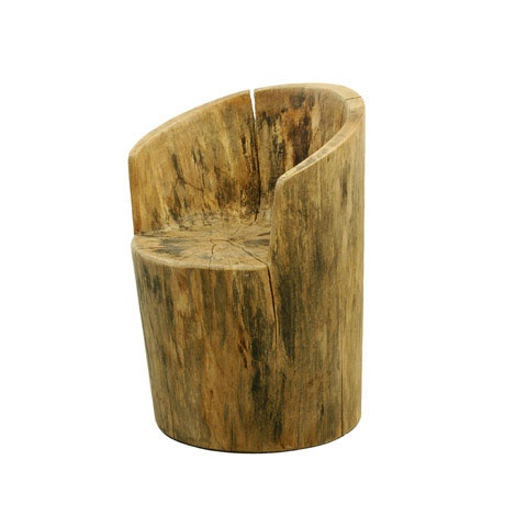 Tree trunk chair furniture pinterest trees chairs - Chair made from tree trunk ...
