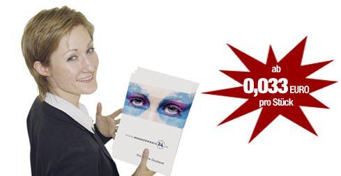 Broschüren und Prospekte online drucken ist ganz einfach, zBsp. mit festem Umschlag und Rückendrahtheftung oder Ringösenheftung