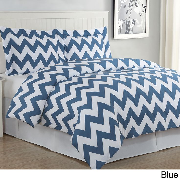 Chevron 3-piece Cotton Duvet Cover Set | Overstock.com Shopping - Great Deals on Duvet Covers