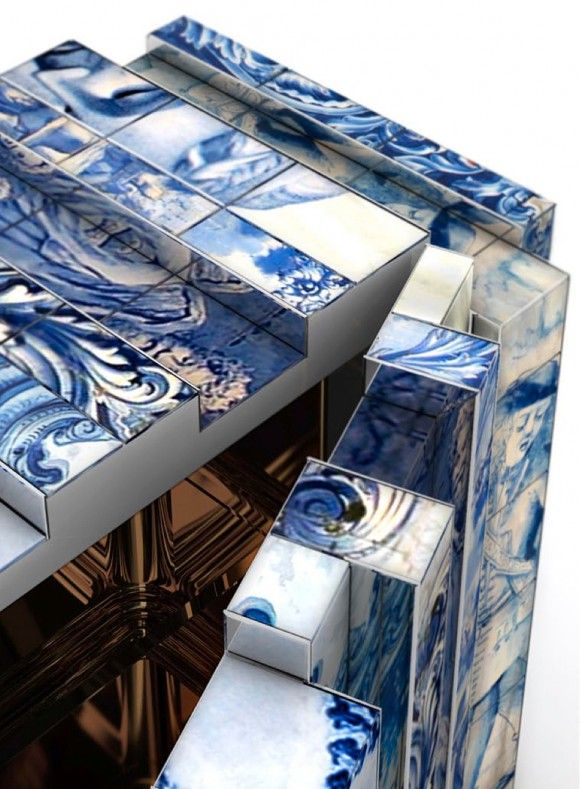 The Heritage Sideboard made in the Portuguese azulejo tiling tradition