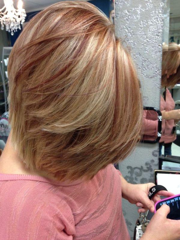 Blonde Hair Red Lowlights 54