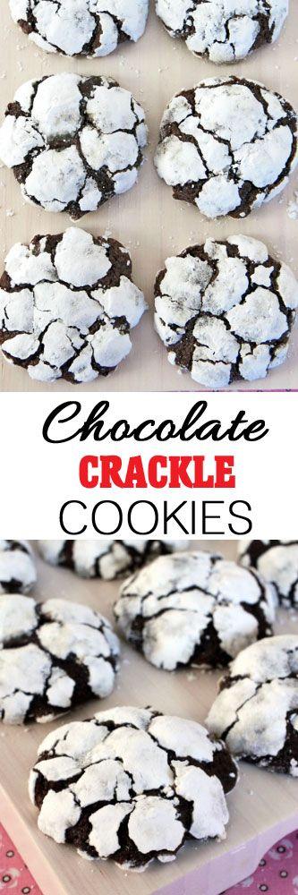 Chocolate Crackle Cookies #christmascookies #christmas #cookieexchange #cookies #christmascookieexchange