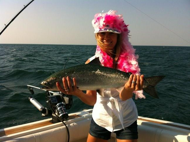 Mariko fishing in Olcott Beach, NY.
