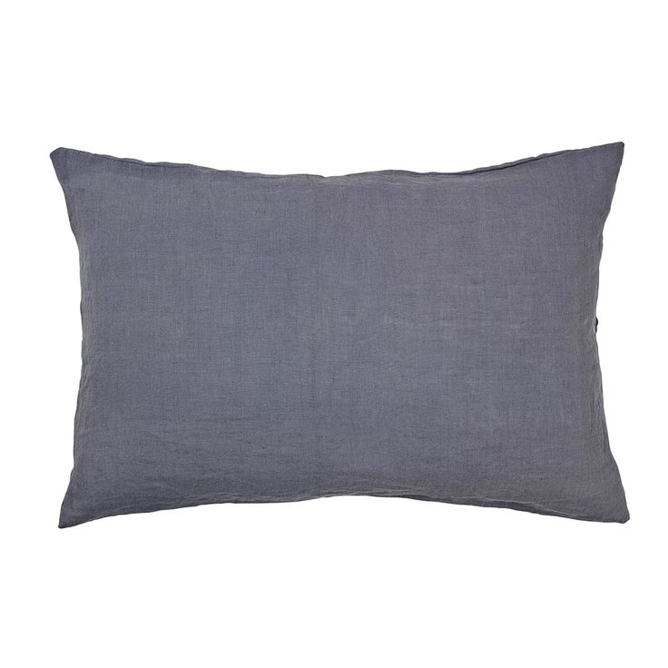 Linen Kissenbezug 40x60 cm, Flint Stone Blue - Broste Copenhagen - Broste Copenhagen - RoyalDesign.de
