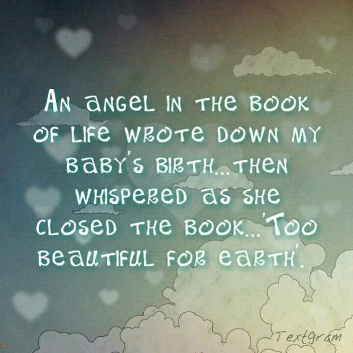 For those families who have suffered through miscarriage, ectopic pregnancy or stillbirth...our angels are all playing together in Heaven!
