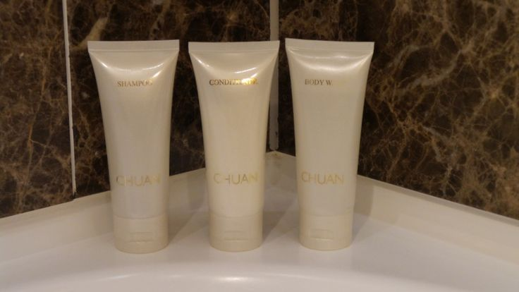 Bathroom Amenities at the Langham Auckland Hotel in New Zealand