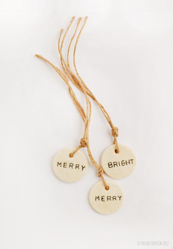 salt dough gift tags christmas