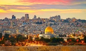 Groupon - ✈ 8-Day Israel Tour with Airfare from NYC, ORD, BOS, and LAX. Price/Person Based on Double Occupancy (Buy 1 per Person) in Jerusalem, Tel Aviv, and Tiberias. Groupon deal price: $999