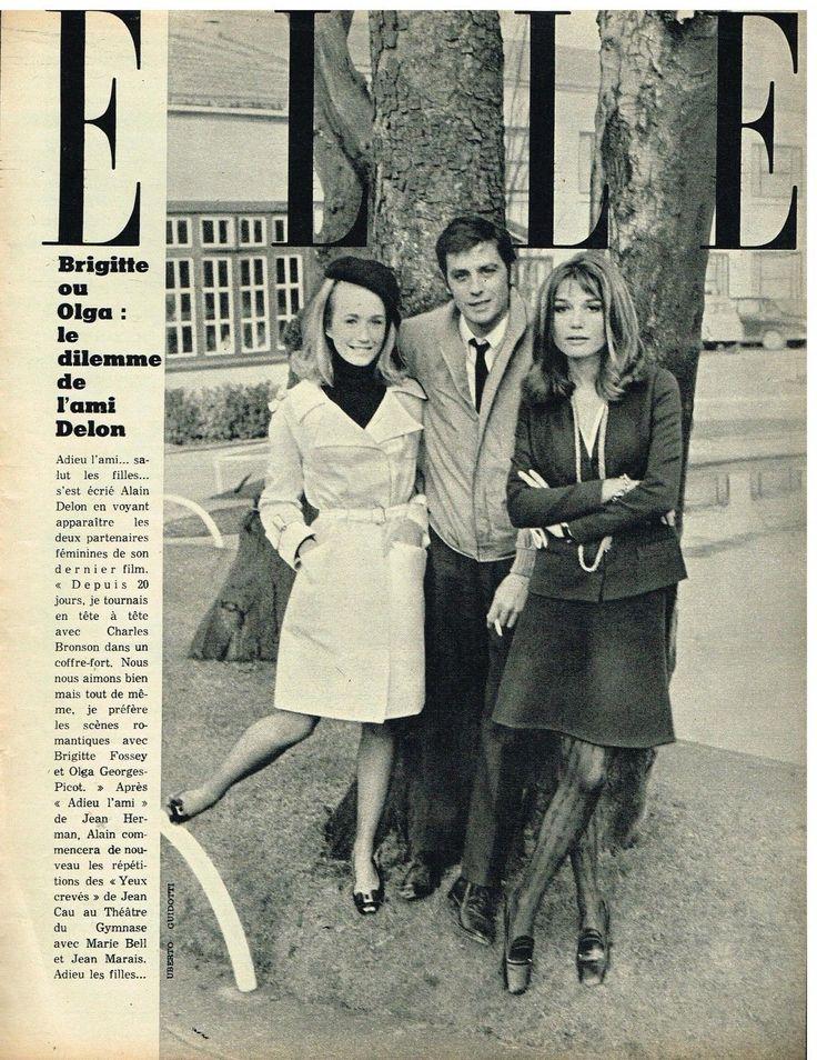 0 alain delon with Brigitte fossey & olga picot 1968