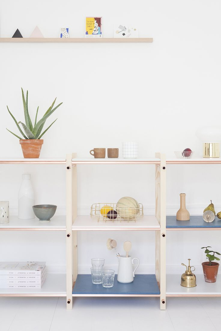 DIY pastel shelves - Heju