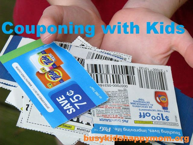 Teaching Kids to Save Money with Coupons - Busy Kids=Happy Mom