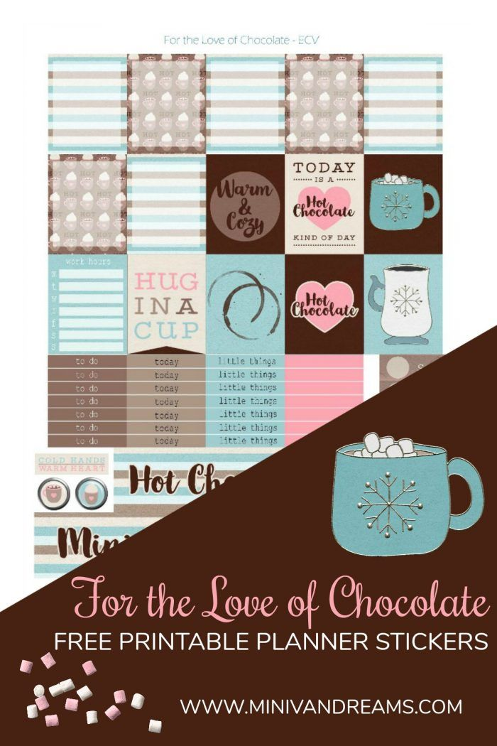free bridal shower printable banner%0A Free Printable Planner Stickers  For the Love of Chocolate via Mini Van  Dreams  http