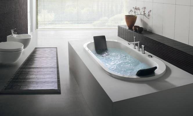 Se si vuole unire utilità e praticità con il design una delle ultime tendenze consiglia l'installazione di vasche da #bagno in muratura. #design #bathroom