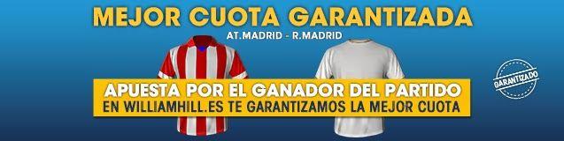 Mejor cuota garantizada atletico de madrid vs real madrid