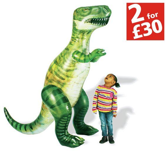 Buy Chad Valley 6ft Giant Inflatable Dinosaur at Argos.co.uk, visit Argos.co.uk to shop online for Inflatable toys, Bouncy castles and inflatable toys, Outdoor toys, Toys