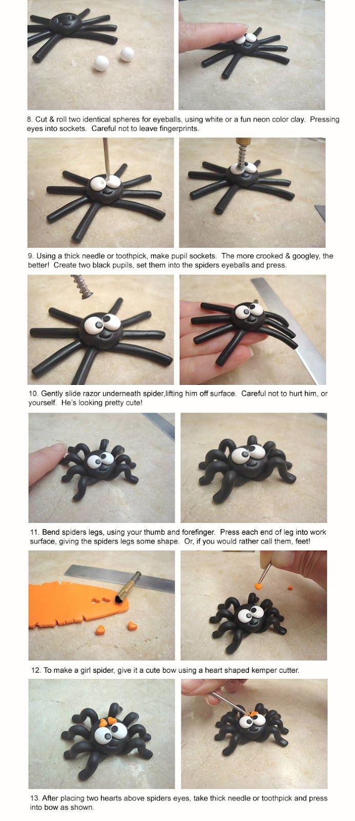 Creme de la Gems: Silly Spider Polymer Clay Tutorial DIY