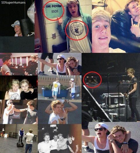Niall + 5SOS. Niall really does want to be part of the band! :)