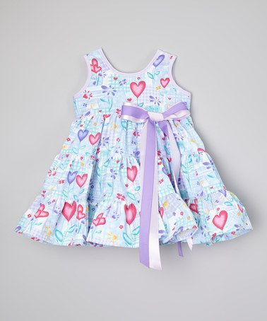 This Purple & Hot Pink Hearts Dress - Infant, Toddler & Girls by De n' L is perfect! #zulilyfinds