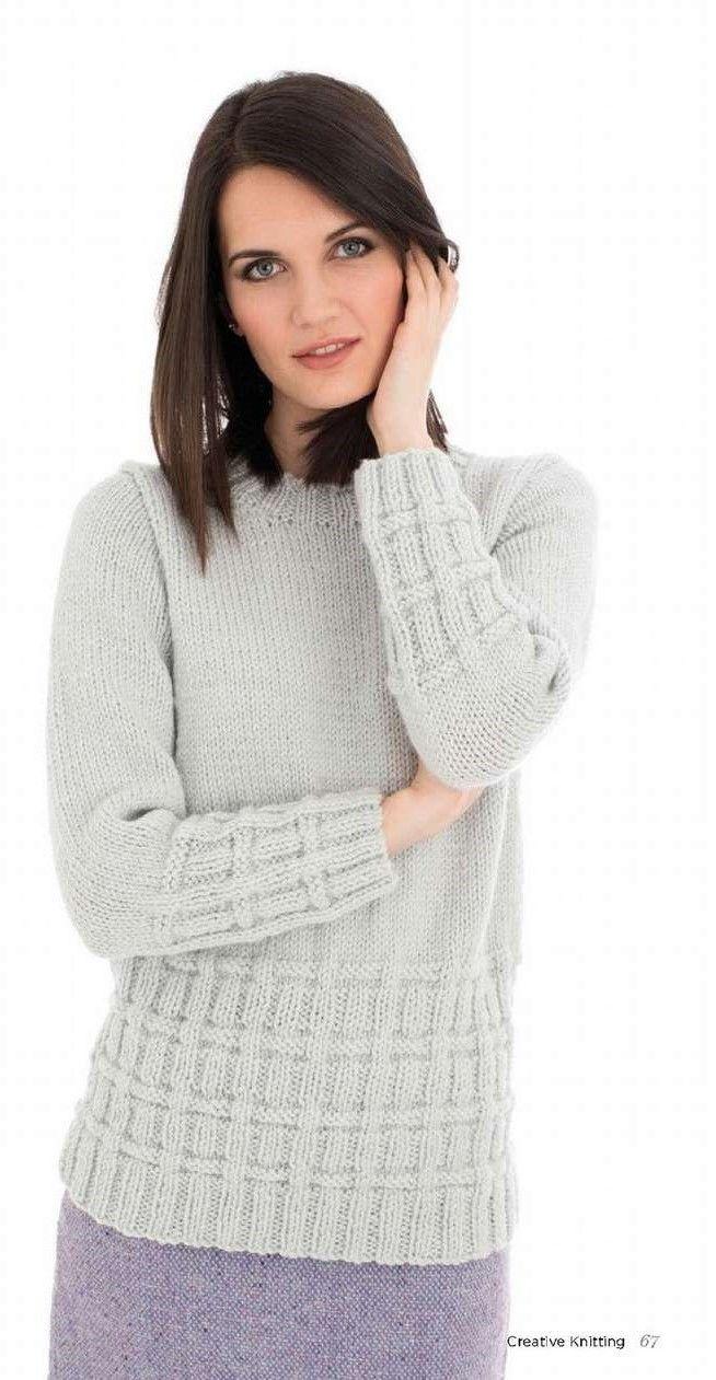 Пуловер с текстурным узором. Обсуждение на LiveInternet - Российский Сервис Онлайн-Дневников