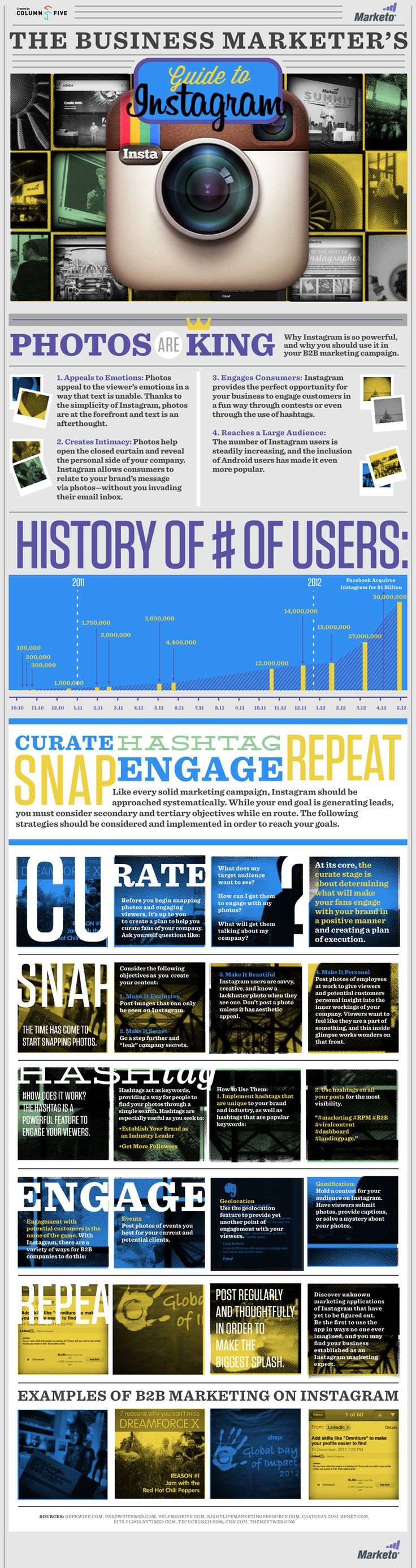 Guide to Instagram http://infographiclist.files.wordpress.com/2013/07/the-business-marketers-guide-to-instagram_503fd7d03700f.jpg
