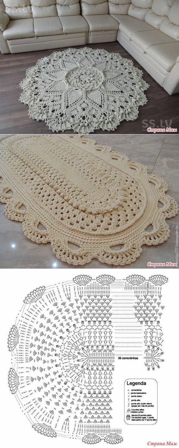 MAT szydełkowych sznurka polie | <br/> Crochet