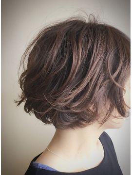 クブヘアー(kubu hair) 《kubu hair》大人ゆるふわひし形ショートボブデジタルパーマ