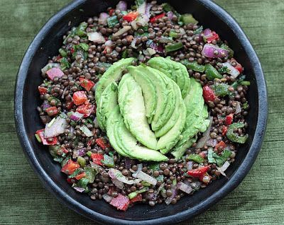 Black Beluga Lentil Salad with Avocado for #SumaBloggersNetwork by@seasonalshaheen