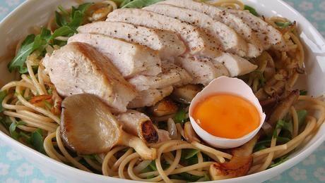 Prøv en av våre magreste pastaretter med kylling! Mye hakket grønt og god sopp passer godt til kyllingen og setter sitt gode preg på retten.