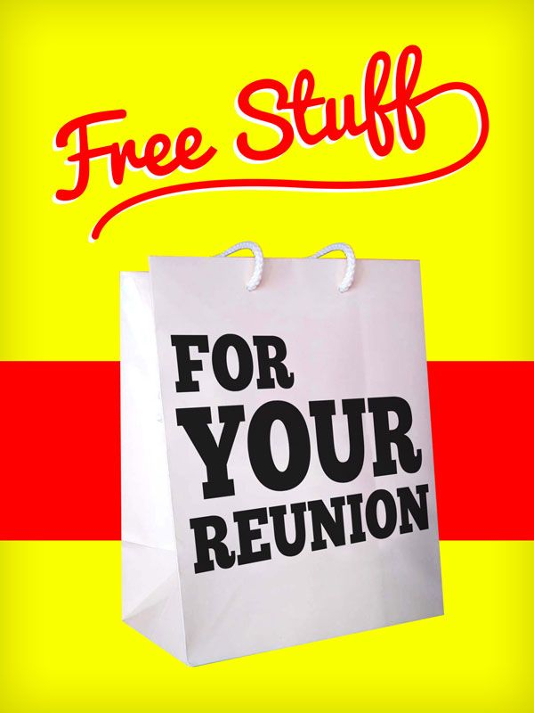 Free subscription to Reunions magazine, Free podcasts, Free reunion timetable, Free reunion planning workshops, Free contests and sweepstakes, Free picture gallery online, Free upcoming reunion listings, Free copy of Reunions magazine, Free publicity for your reunion, Free monthly email newsletter, and much more!