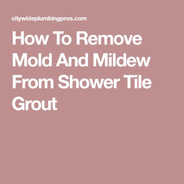 how to clean mildew from shower