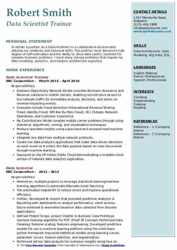 Data Scientist Resume Samples Qwikresume In 2020 Resume Examples Architect Resume Resume