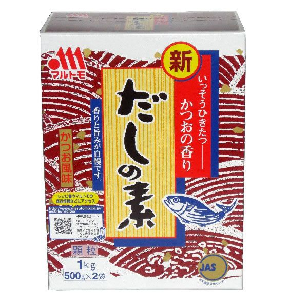 Bumbu Marutomo Hondashi 500 gram Marutomo Hondashi adalah salah satu penyedap makanan masakan jepang yang sangat populer di restorant jepang pada umumnya. Bumbu ini merupakan bahan utama untuk membuat sup, saus, mie ramen dan lain-lain dalam masakan Jepang. Proses pembuatan bumbu ini dibuat dari bonio flakes, rumput laut dan teri besar yang direbus hingga keluar sarinya.