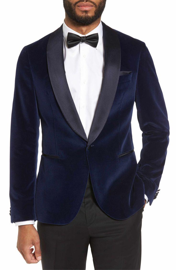 Main Image - BOSS Nemir Classic Fit Velvet Dinner Jacket