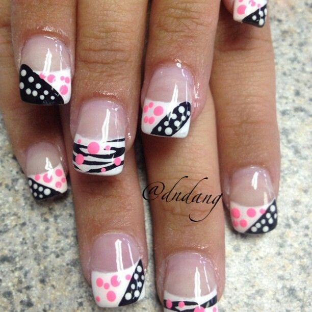 cute poka dots maybe a diff color than the black
