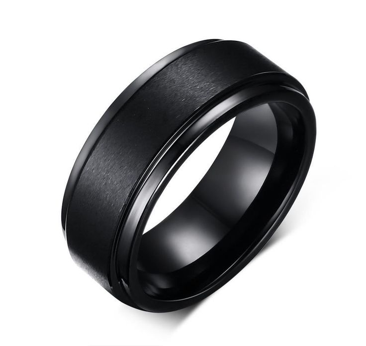 8mm Black Mens High Polish Tungsten Ring Comfort Fit Matte Finish Wedding Band   Jewelry & Watches, Men's Jewelry, Rings   eBay!