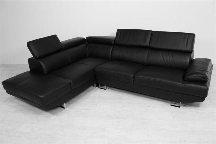 Divani sort eller hvid lædersofa i topkvalitet til billige penge