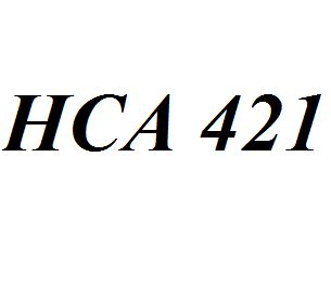 HCA 421 Entire Class Course Answers Here: http://www.scribd.com/collections/4213201/HCA-421