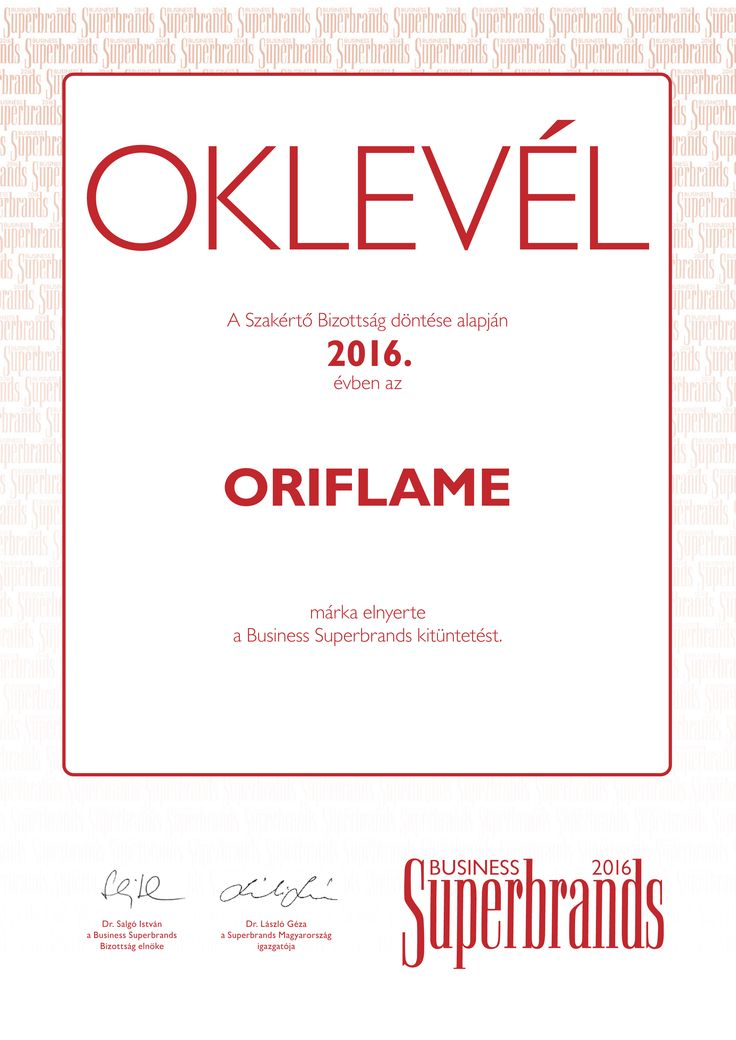 Business Superbrands díjas az Oriflame | Oriflame blog