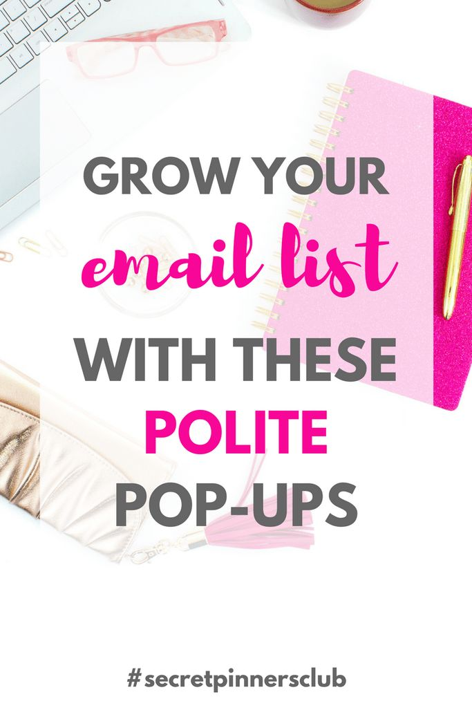 Struggling to get subscribers and grow your email list? Let me show you how to grow your email list with these 3 polite pop-ups you can install on your blog to increase your email subscribers.