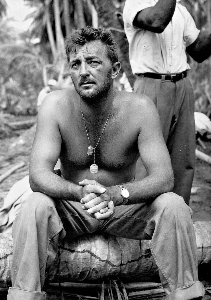 HEAVEN KNOWS MR. ALLISON (1957) - Robert Mitchum on location - Directed by John Huston - 20th Century-Fox - Publicity Still.