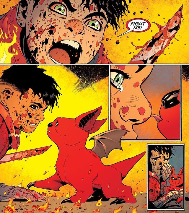 Damian Wayne & Goliath! - Comic - 'Robin: Son of Batman' #6 Written by Patrick Gleason Artwork by Patrick Gleason, Mick Gray, & John Kalisz