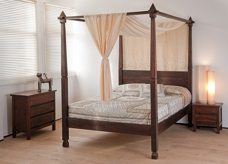 118 best images about four poster beds on pinterest for Wooden four poster bed