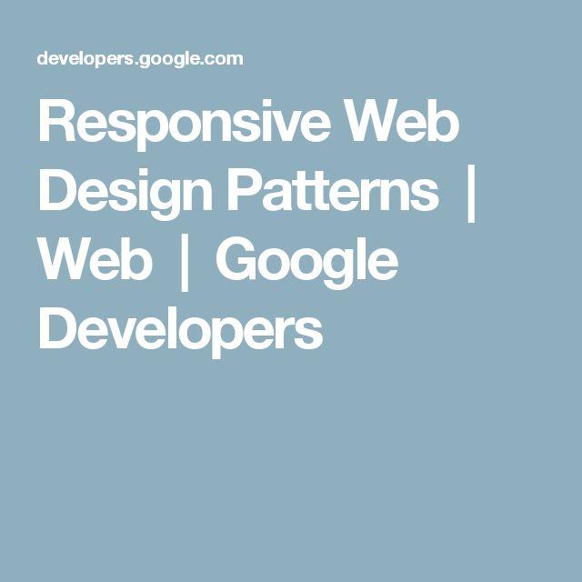 Responsive Web Design Patterns | Web       | Google Developers