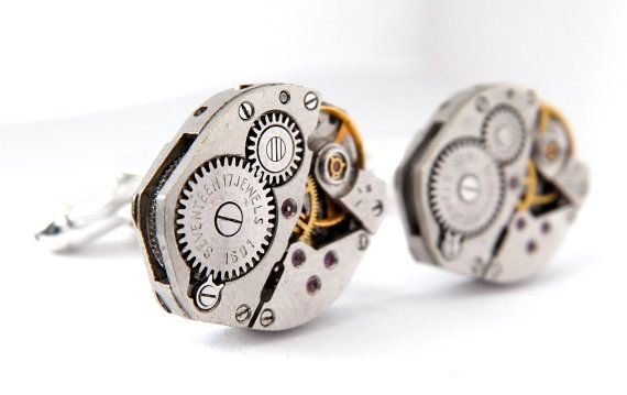 Vintage Watch Movements Cufflinks. Fathers Day / di ...