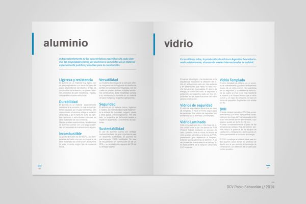 Presentation brochure for Zerro, aluminum manufacturer in Buenos Aires, Argentina. Graphic design and photography. 2014